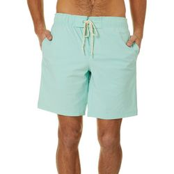Boca Islandwear Mens Solid Drawstring Swim Trunks