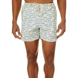 Mens Text Swim Trunks