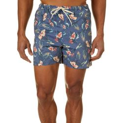 Boca Islandwear Mens Hibiscus Swim Trunks