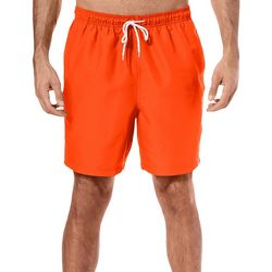 Mens Solid Swim Trunks