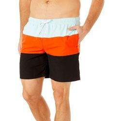 Boca Classics Mens Stripe Print Swim Trunks