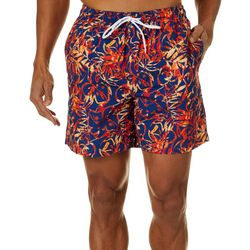 Boca Classics Mens Tropical Leaf Swim Trunks