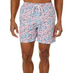 Boca Classics Mens Flamingo Swim Trunks