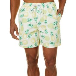 Boca Classics Mens Pineapple Swim Trunks