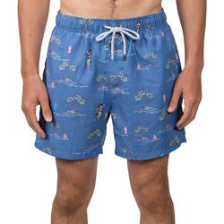 Mens Hula Girl Swim Shorts