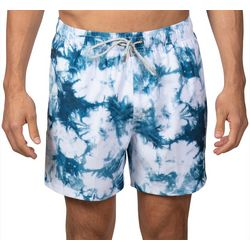 Vintage Summer Mens Tie Dye Swim Shorts