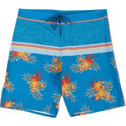 Mens Tropical Stripe E-Boardshorts