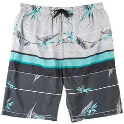 Burnside Mens Gravity Tropical Striped E-Boardshorts