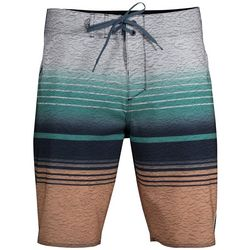 Salt Life Mens Liquid Haze Striped Boardshorts