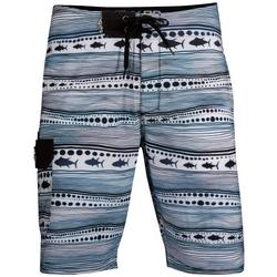 Mens Astro Fish Stripe Boardshorts