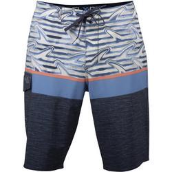 Mens Finz Colorblock Stripe Boardshorts