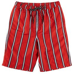 Distortion Mens Verticle Stripe Print Boardshorts