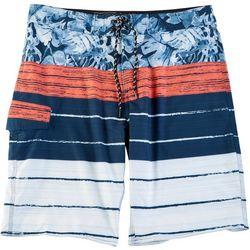 Distortion Mens Hawaiian Stripe Boardshorts