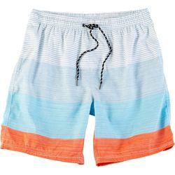 Distortion Mens Floral Stripe Print Boardshorts
