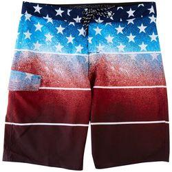 Distortion Mens USA Fade Volley Shorts