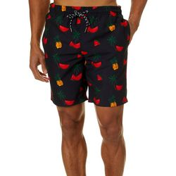 Mens Fruit & Palm Tree Volley Shorts