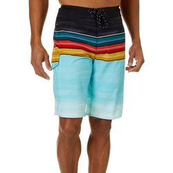Distortion Mens Heater Stripe Boardshorts