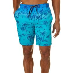 Distortion Mens Ombre Palm Tree Volley Shorts