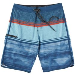 Distortion Mens Colorblock Stripe Boardshorts