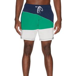 Mens Colorblocked Volley Swim Shorts