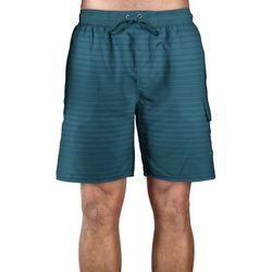 Newport Blue Mens Pow Wow  Stripe Swim Trunks