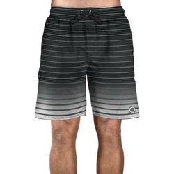 Newport Blue Mens Stripe Ombre Swim Trunks