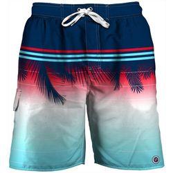 Newport Blue Mens Tropical Sunset Swim Trunks