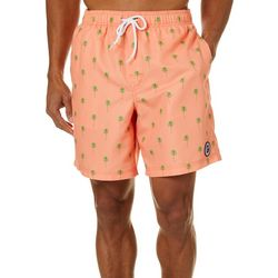 Newport Blue Mens Palm Print Boardshorts