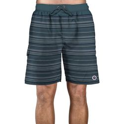 Newport Blue Mens Ripple Stripe Swim Trunks