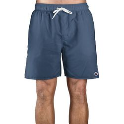 Newport Blue Mens Solid Swim Trunks