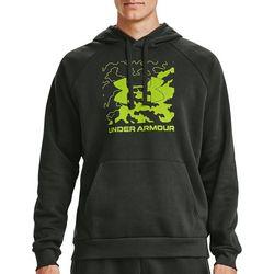 Under Armour Mens Rival Box Logo Fleece Hoodie