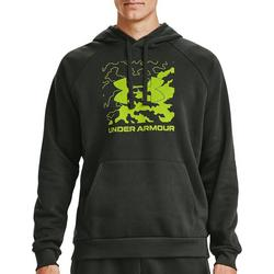 Mens Rival Box Logo Fleece Hoodie