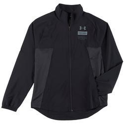 Mens Summer Woven Full Zip Jacket