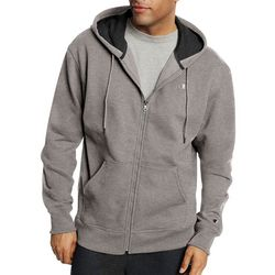 Champion Mens Powerblend Fleece Solid Zip Hoodie