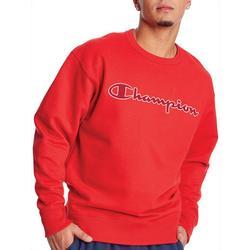 Mens Applique Crew Sweatshirt