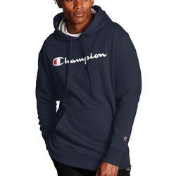 Champion Mens Solid Script Logo Hoodie