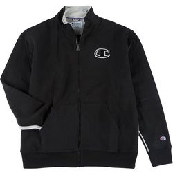 Champion Mens Solid Logo Embroidered Zippered Jacket