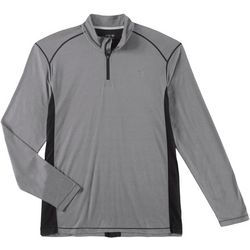 Reel Legends Mens Heathered Zipper Placket Pullover