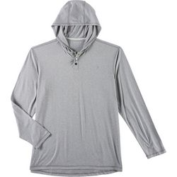 Reel Legends Mens Ultra Comfort Hooded Long Sleeve T-shirt