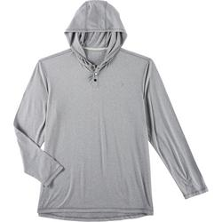 Mens Ultra Comfort Hooded Long Sleeve T-shirt