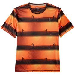 Reel Legends Mens Reel-Tec Pier Stripe T-Shirt