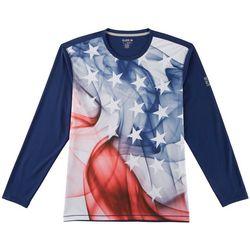 Reel Legends Mens Freeline Smoke Flag Long Sleeve T-Shirt