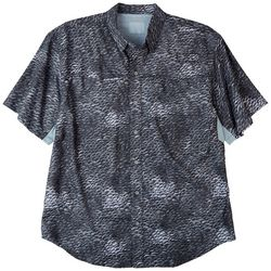 Reel Legends Mens Mariner II Scale Print Short Sleeve Shirt