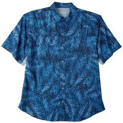 Reel Legends Mens Mariner Palm Fronds Short Sleeve Top