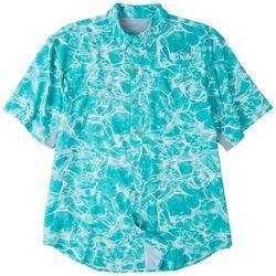 Reel Legends Mens Mariner All Over Water Short Sleeve Top