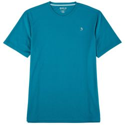 Reel Legends Mens Freeline Solid V-Neck Short Sleeve T-Shirt