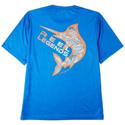 Reel Legends Mens Reel-Tec Sea Life Filled Logo T-Shirt