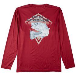Reel Legends Mens Reel-Tec Red Fish Long Sleeve T-Shirt