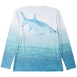 Reel Legends Mens Reel-Tec Tarpon Long Sleeve T-Shirt