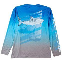 Reel Legends Mens Reel-Tec Shark Graphic Long Sleeve T-Shirt